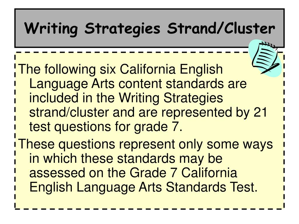 Writing Strategies Strand/Cluster