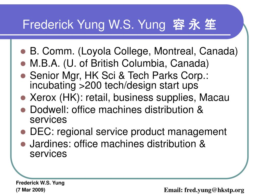 Frederick Yung W.S. Yung