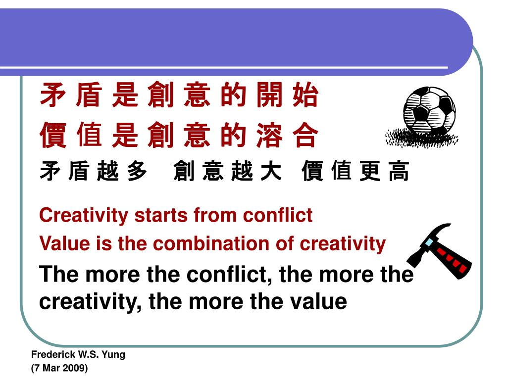矛 盾 是 創 意 的 開 始