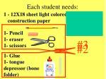 each student needs