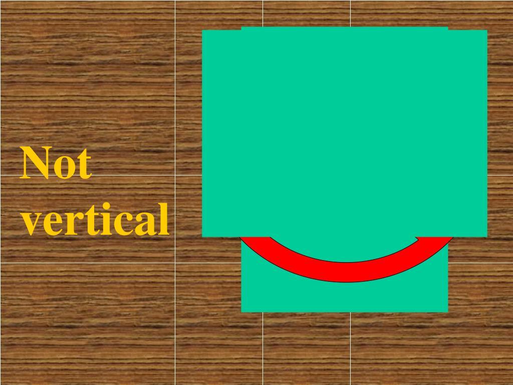 Not vertical