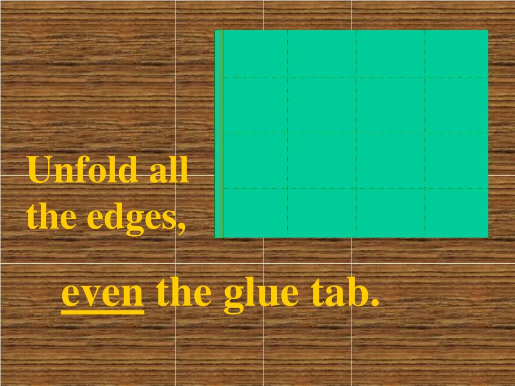 Unfold all the edges,