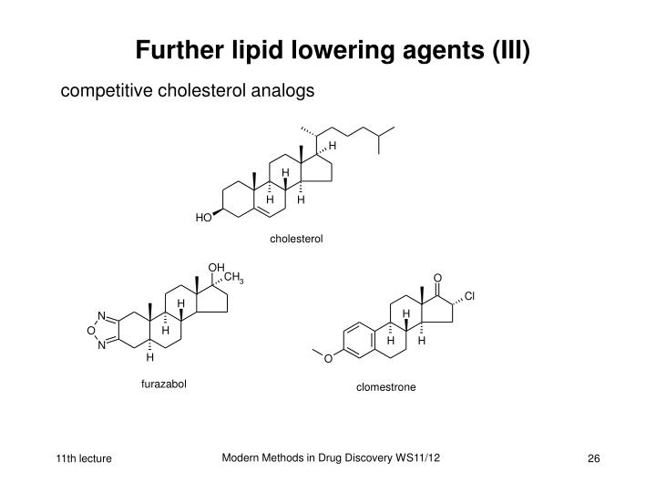 Further lipid lowering agents (III)