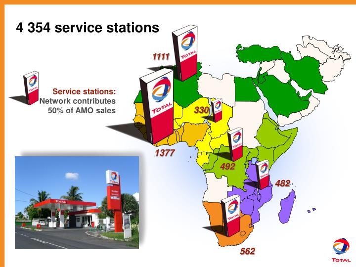 4 354 service stations