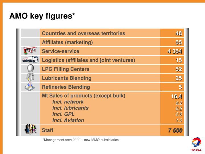 AMO key figures*