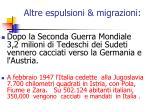 altre espulsioni migrazioni
