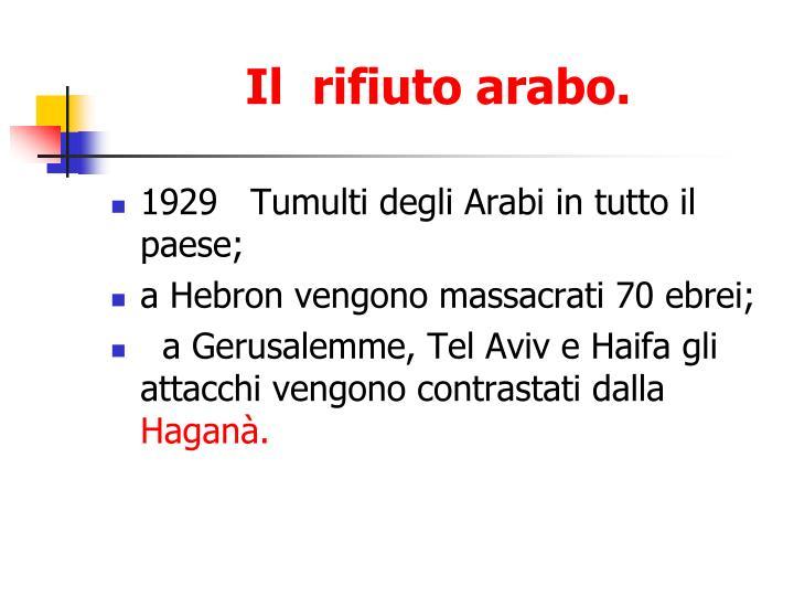 Il  rifiuto arabo.