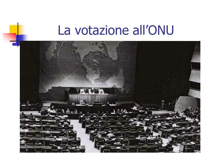 La votazione all'ONU