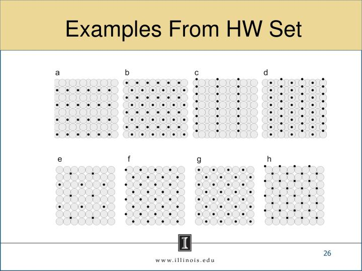 Examples From HW Set