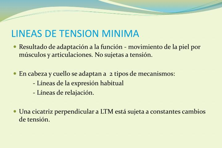 LINEAS DE TENSION MINIMA