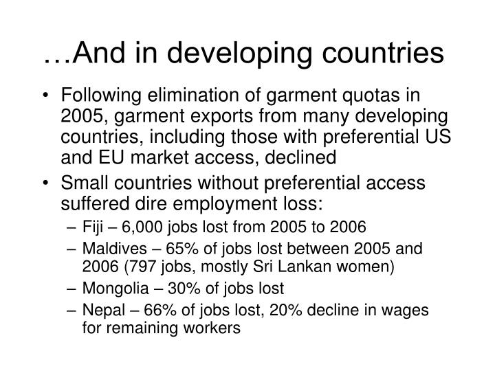 …And in developing countries