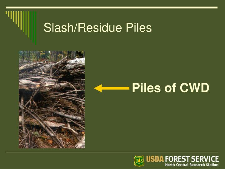 Slash/Residue Piles