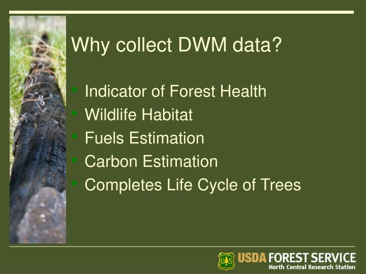 Why collect DWM data?