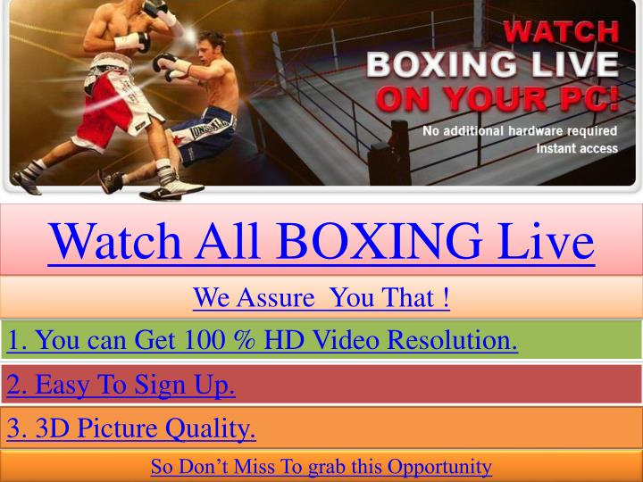 Watch All BOXING Live
