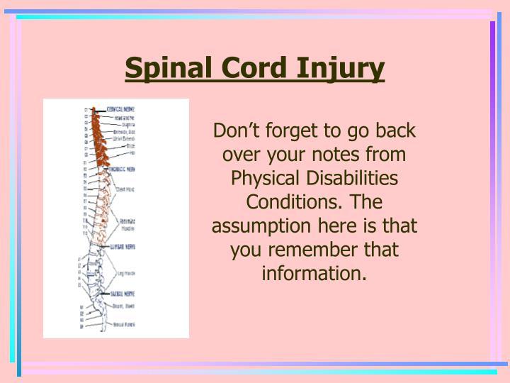 informative speech spinal cord injuries