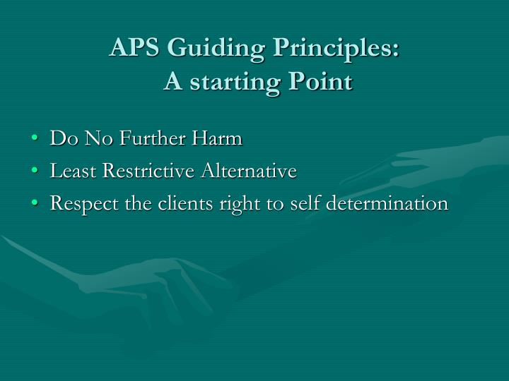 APS Guiding Principles: