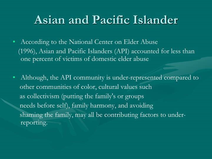 Asian and Pacific Islander