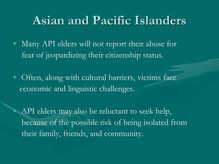 Asian and Pacific Islanders