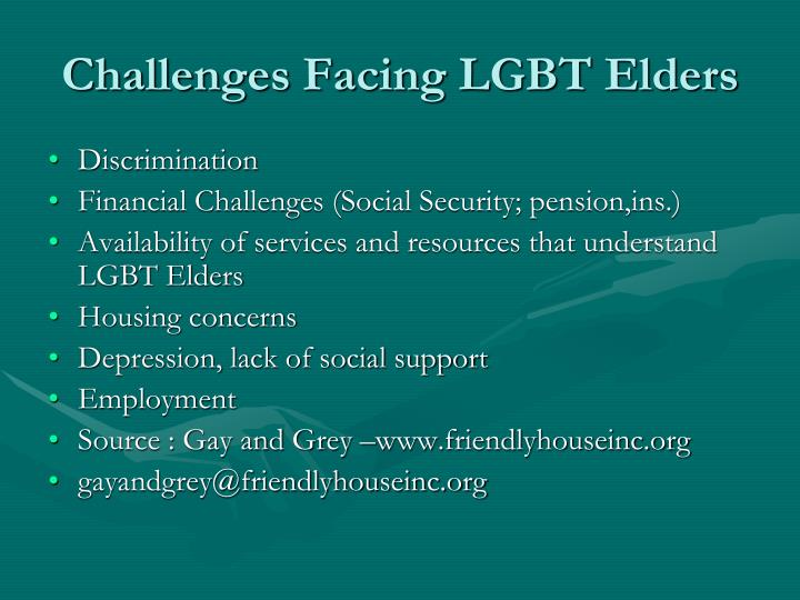 Challenges Facing LGBT Elders