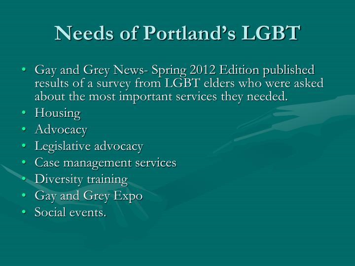 Needs of Portland's LGBT