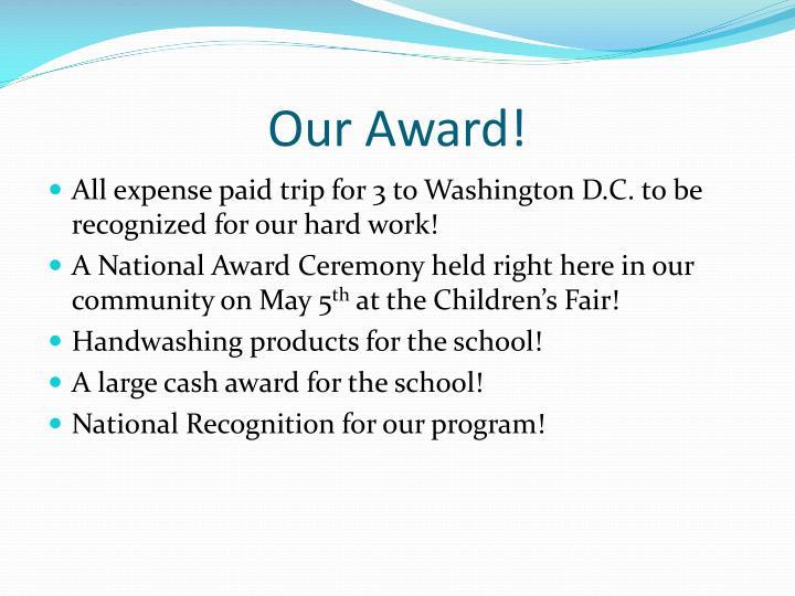 Our Award!