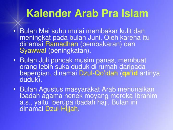 Kalender Arab Pra Islam