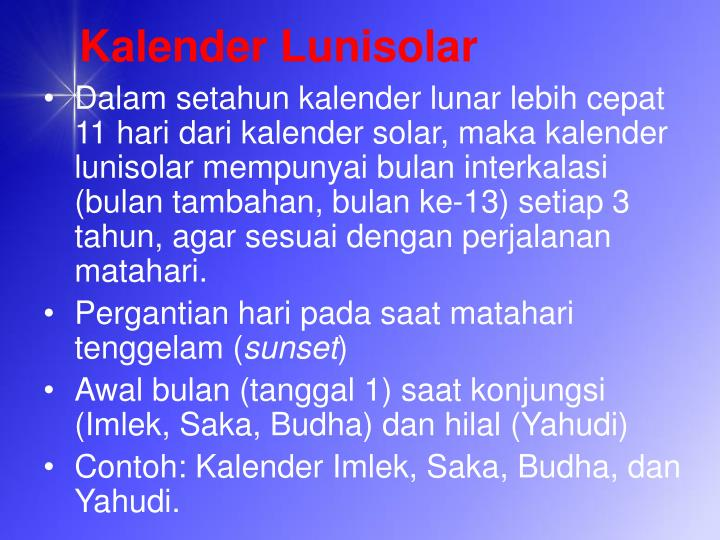 Kalender Lunisolar