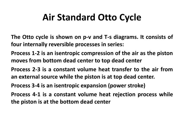 Air Standard Otto Cycle