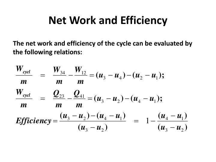 Net Work and Efficiency