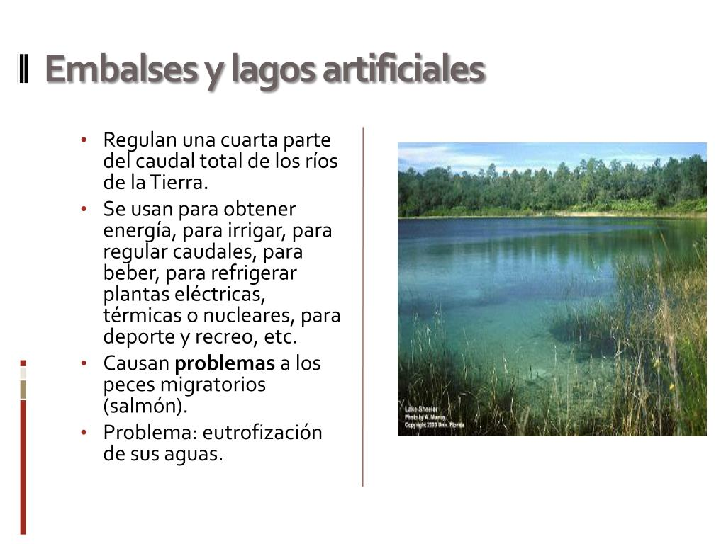 Embalses y lagos artificiales