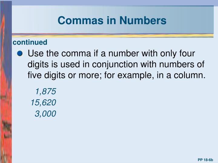 Commas in Numbers
