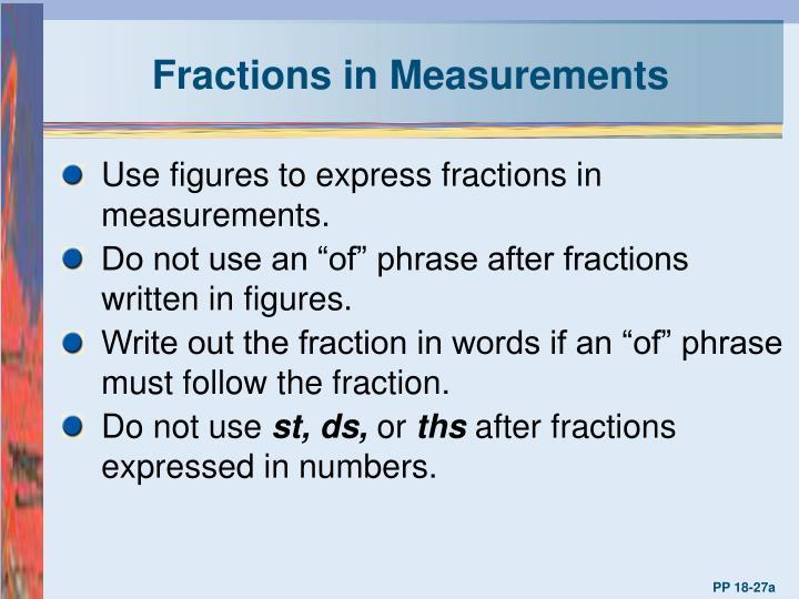 Fractions in Measurements