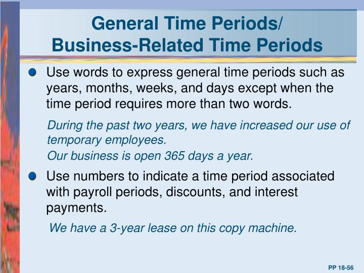General Time Periods/