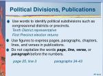 political divisions publications