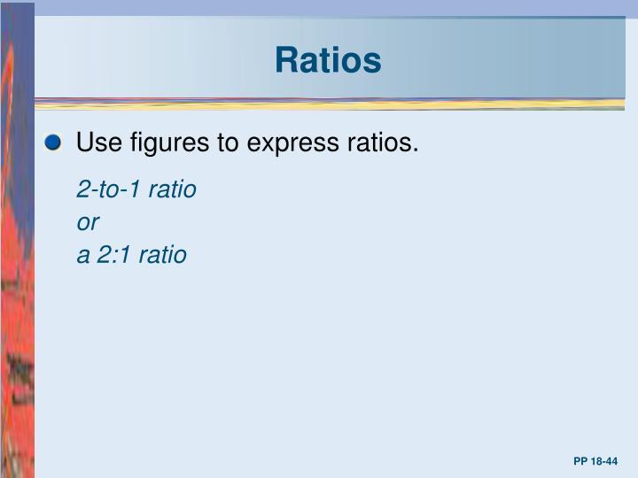 Ratios