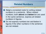related numbers