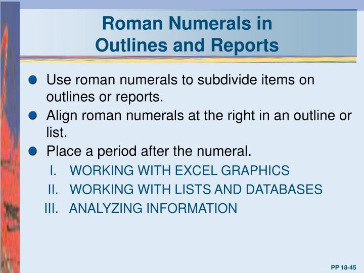 Roman Numerals in