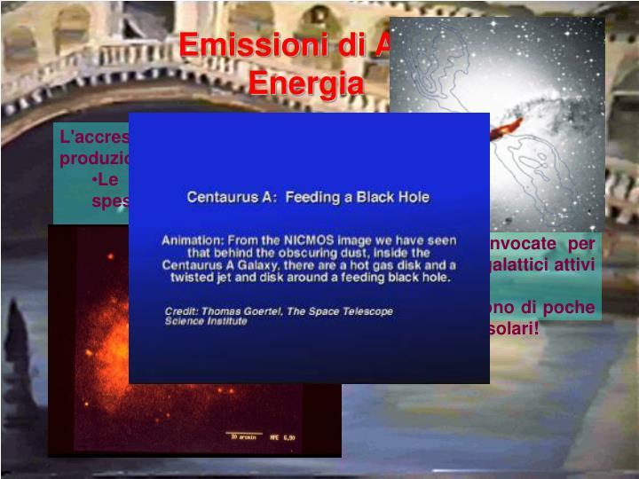 Emissioni di Alta Energia