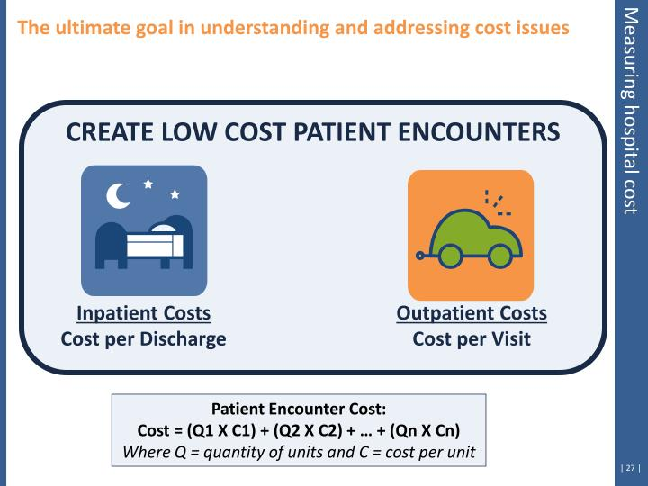 The ultimate goal in understanding and addressing cost issues