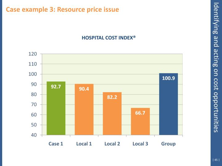 Case example 3: Resource price issue