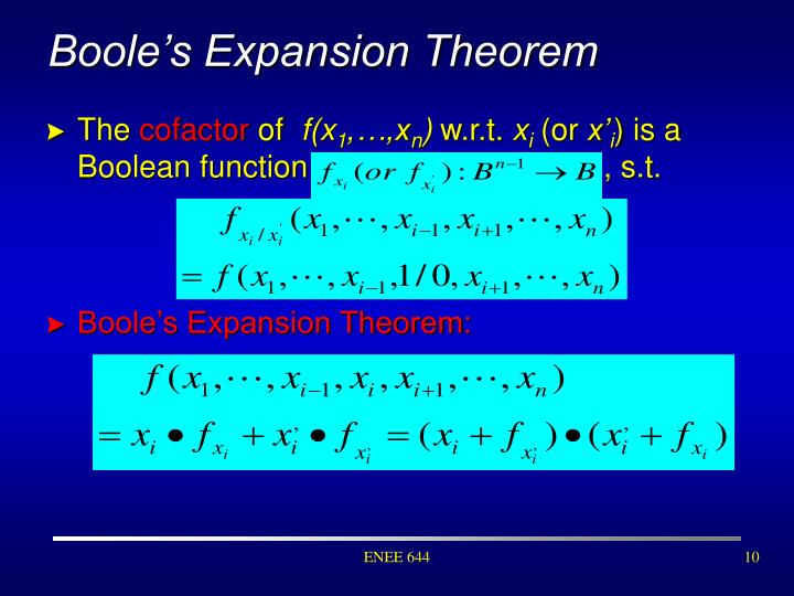 Boole's Expansion Theorem