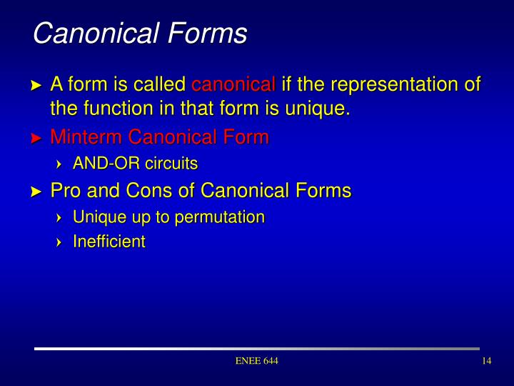 Canonical Forms