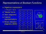 representations of boolean functions1
