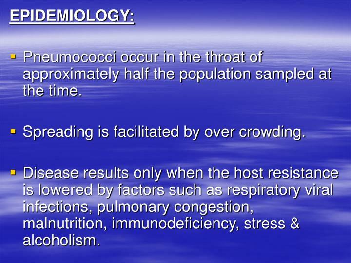 EPIDEMIOLOGY: