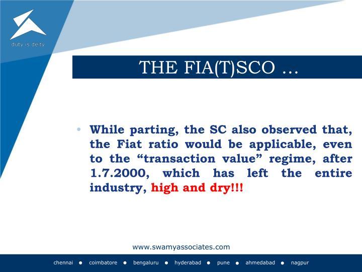 THE FIA(T)SCO …