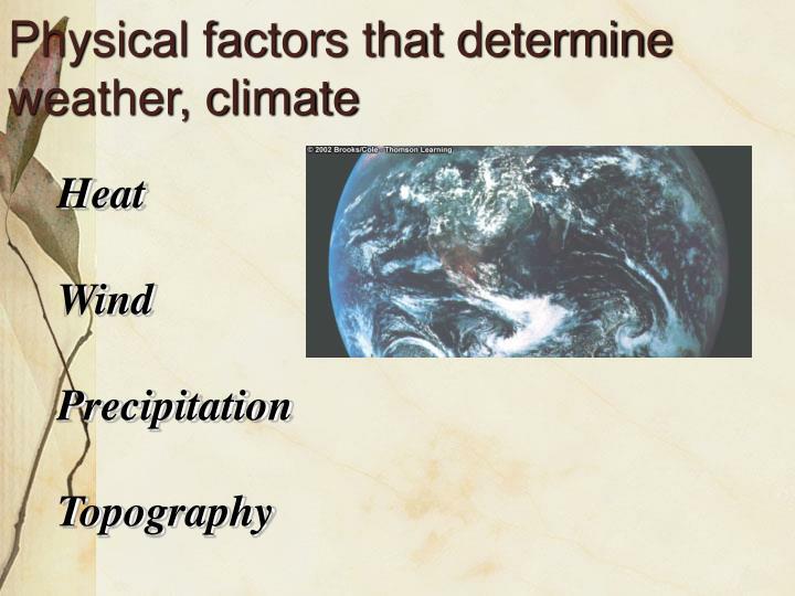 Physical factors that determine