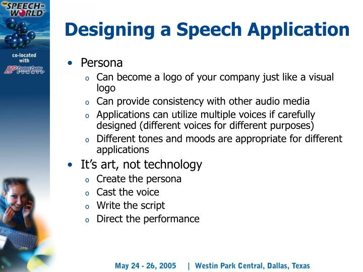 Designing a Speech Application