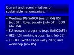 current and recent initiatives on sustainable nanomaterials