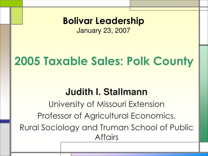 2005 taxable sales polk county