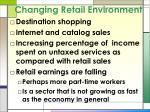 changing retail environment